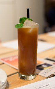 """""""Better Call Saul"""" with amaro averna, tanqueray rangpur with cucumber and mint leaves"""