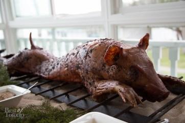 Whole pig roast