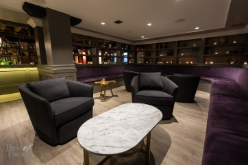 Inside the lounge area at WEST