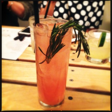Lioness - rum, watermelon juice, and rosemary