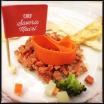 Tartare of Hot Dog by Chef Saverio Macri | Photo: Nellie Chen