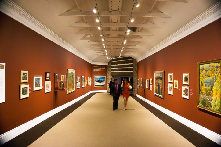 Interior of the McMichael Gallery