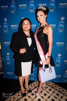 Jose Cuervo tequila expert, Sonia Espinola de la Llave, and Miss Universe Canada, Chanel Beckenlehner