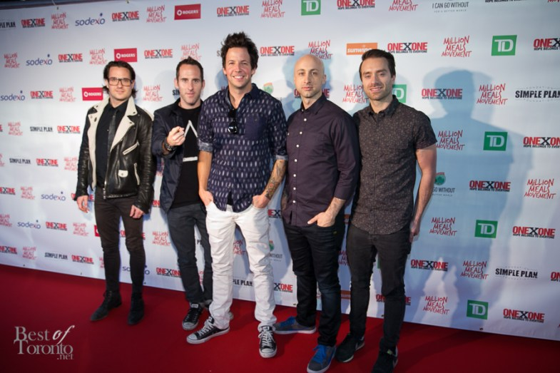 A Simple Plan on the red carpet