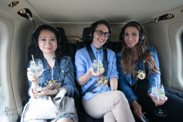 """Cheers to gin and tonic cocktails in a helicopter for an ultimate """"5 to 7"""" experience"""