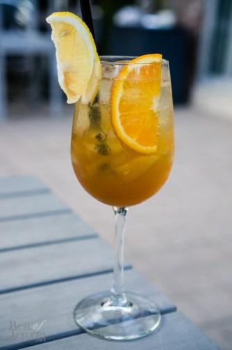 A More Romantic Name - Rum, Cognac, Luxardo Maraschino, Apricot Brandy, Citrus, Green Tea, Cava