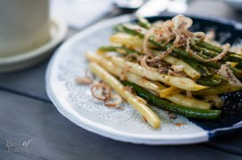 Charred Green Beans, Lemon, Chili, Anchovy