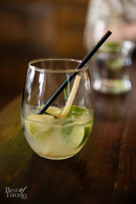 Caipirinha $12 - Cachaça, Lime, Simple Syrup, Sugar Cane. Classic Lime, Kiwi, Mango, Passion Fruit, Guava