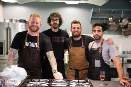 l: Chef Derek Dammann, 2nd from right: Chef Dale MacKay