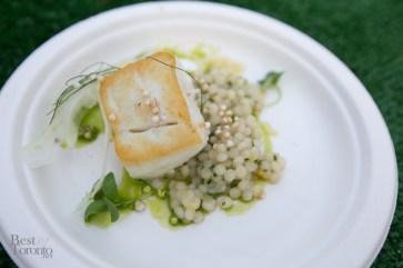 Bosk Restaurant - Roasted Atlantic Halibut with grains, fennel, citrus and basil | Photo: Nick Lee