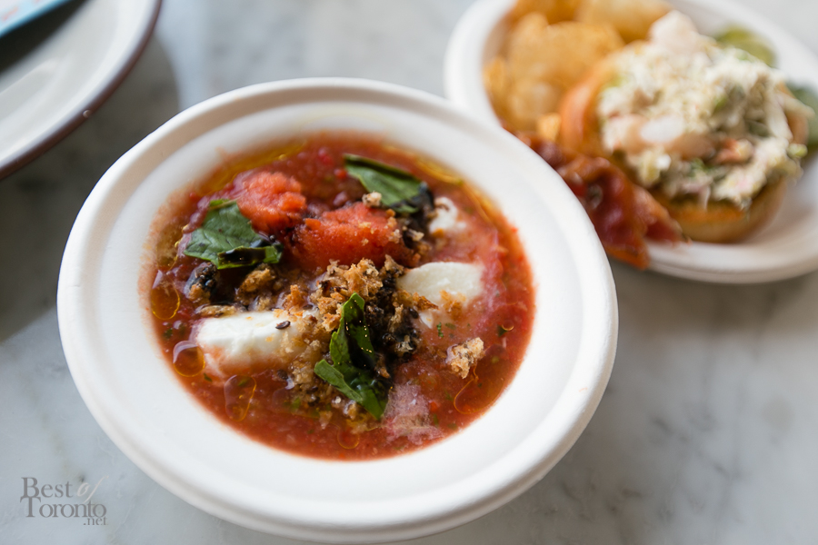 The Harbord Room - Heirloom Chilled Tomato Soup | Photo: Nick Lee