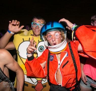 Spongebob and an Astronaut