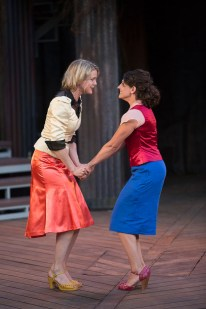 Amy Rutherford (Rosalind) and Chala Hunter (Celia) in As You Like It| Photo: David Hou