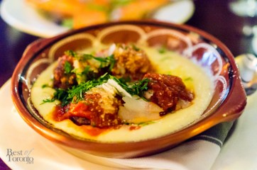 Meatballs with polenta | Photo: John Tan