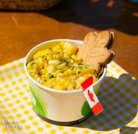 """It's corn in a cup! Roasted on the husk, CORNehCOPIA does all the work so you don't have to! """"Canadian Maple"""" with maple syrup, dijon mustard and maple butter."""