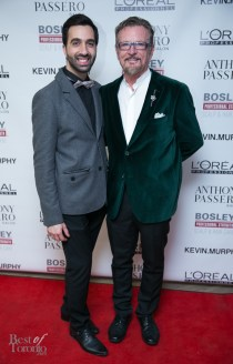 Anthony Passero with his friend, veteran stylist, Robin Barker