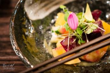 Beet salad with miso mustard sauce | Photo: John Tan