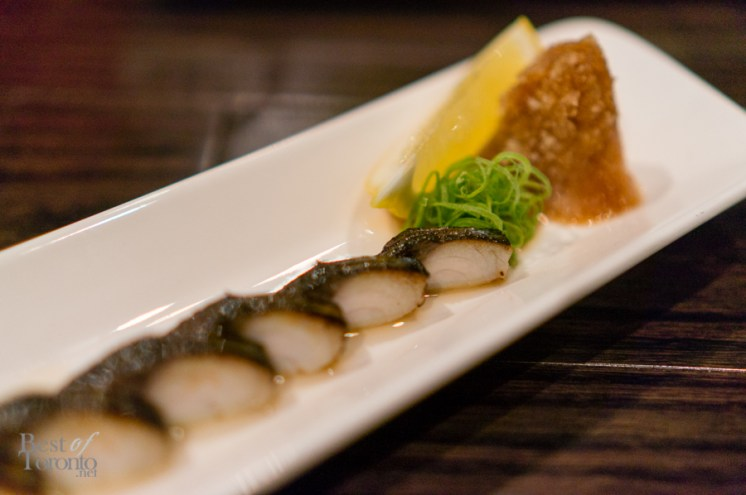 Torched mackerel sashimi | Photo: John Tan
