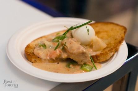 Creamed Salmon on Toast, Chef Eric Wood of Maple Leaf Tavern