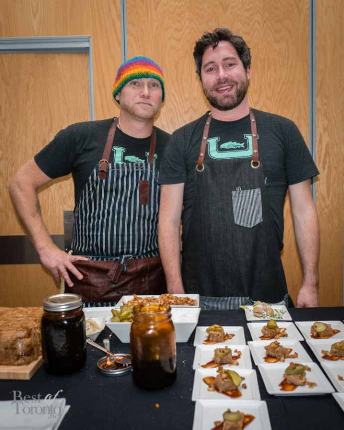 The chefs from Mallard Cottage headed by Chef Tom Perrin (left)