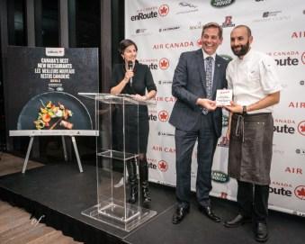 Bar Buca accepting their award