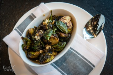 Brussel sprouts and mint