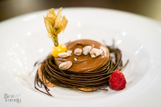Chocolate Nest - Chocolate Nest, Praline and Biscotti, with Chocolate Cream | Photo: John Tan