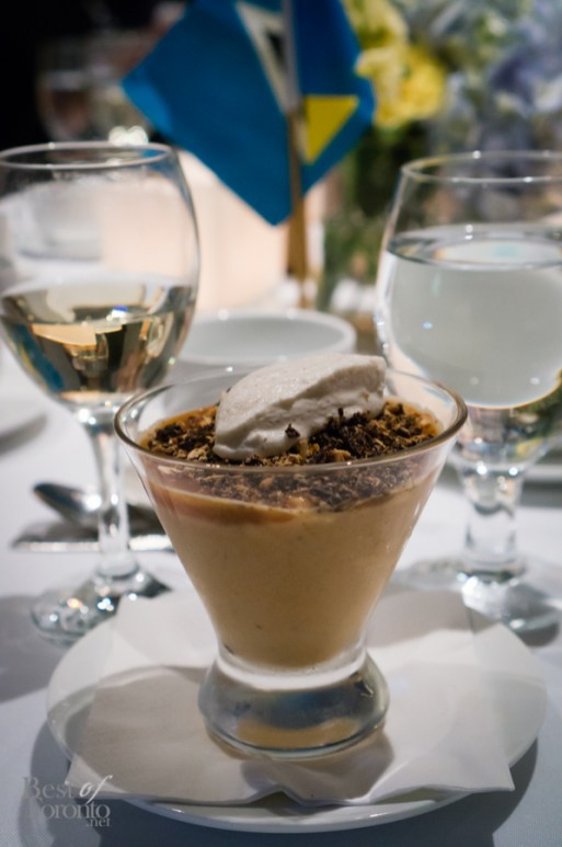 Pumpkin Budino, Salted Caramel and Chocolate Crumble