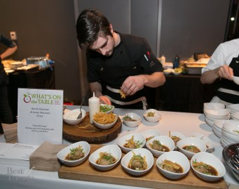 """""""Masa Ball Soup"""" Chicken and Corn Dumpling with Cilantro and Broth by David and Lanny MacLeod (Victor)"""