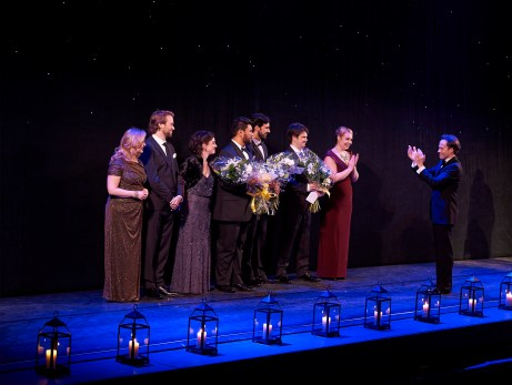 Ensemble Studio Competition finalists and winners with COC Music Director Johannes Debus | Photo: Michael Cooper