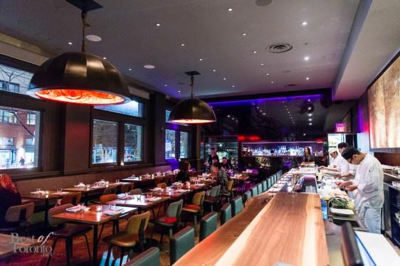 The main dining area at Blowfish Restaurant | Photo: Nick Lee