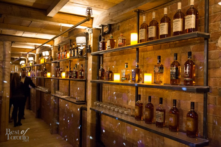 The whiskey tunnel at CC Lounge | Photo: Nick Lee