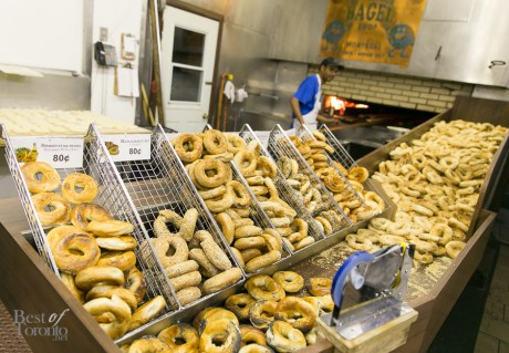 Fresh bagels right out of the oven at La Maison du Bagel