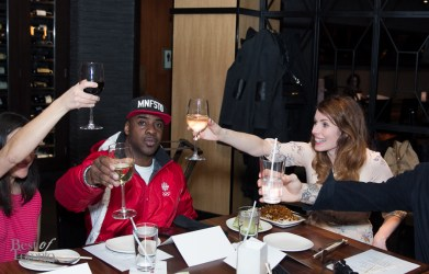 Cheers with Wes Williams and Lauren Hammersley