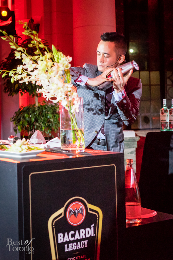 Vancouver finalist and Bacardi Legacy Winner Mike Shum   Cocktail: Chan Chan