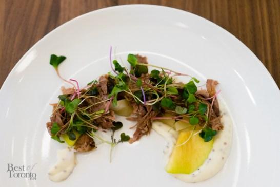 Pork Shoulder - Bespoke white wine sauerkraut, four mustard cream sauce
