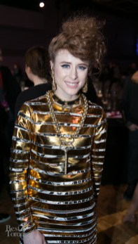 Kiesza at the JUNO Gala Awards dinner winning Dance Recording of the Year and Video of the Year (sponsored by MuchFACT). She went on to win more big honours with Breakthrough Artist of the Year