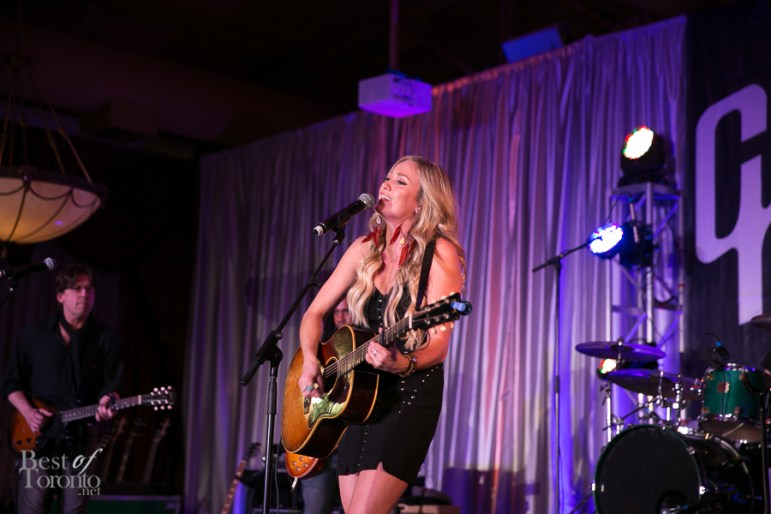 Meghan Patrick had a brilliant performance at the Gibson VIP event