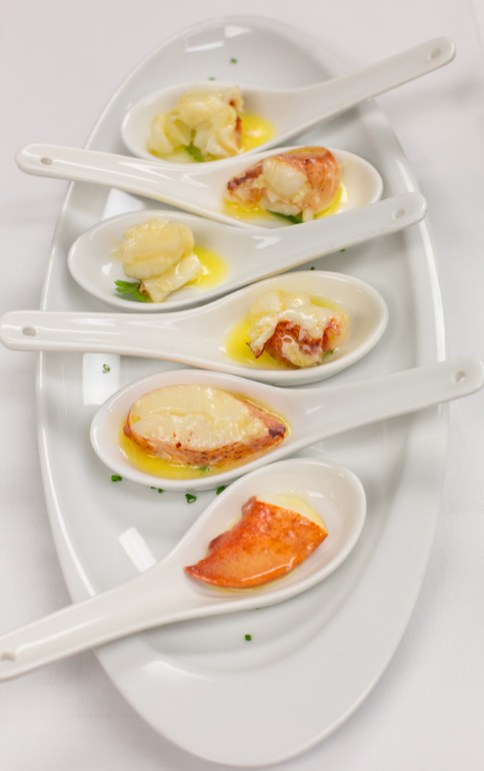 Butter Poached Lobster Spoons With Vermouth | Photo: Brilynn Ferguson