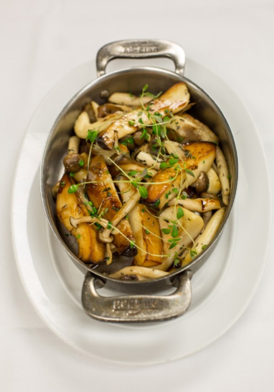Roasted seasonal mushrooms garlic, thyme and aged balsamic | Photo: Brilynn Ferguson
