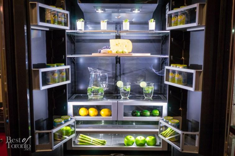 Black interior refrigerator