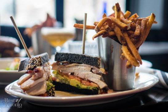 Pit-Fired Turkey BLT | brioche, bacon, lettuce, avocado, fries