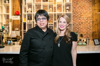 Chef Alvin Leung with guest, Shawna G
