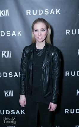 Liz Trinnear wearing Rudsak