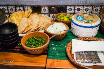 Tostadas, salsas, and other toppings