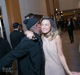 Kirk Pickersgill giving Candice Chan a big hug