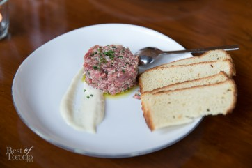 Beef Tartare with 60 day old truffle sauce and brioche
