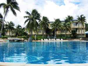 The swimming pool of resort in summer time