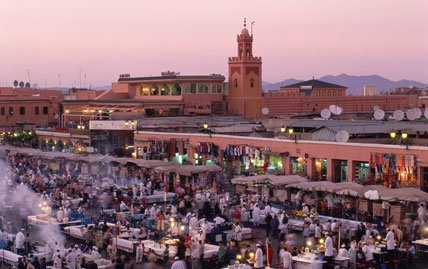 Marrakech in Morocco - General view