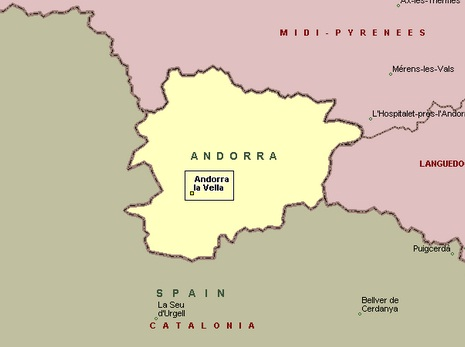 map of andorra europe